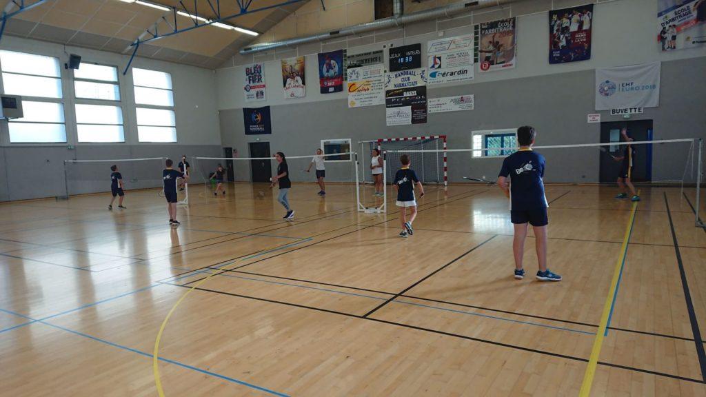 Entrainement badminton Jeunes