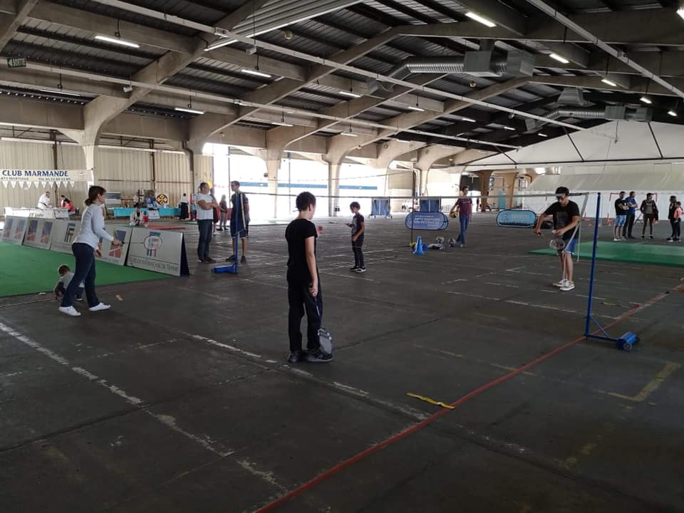 Stand Badminton au forum des sports de Marmande