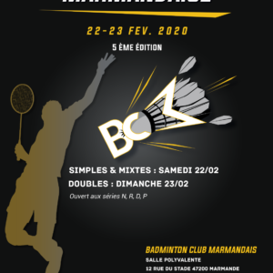 Tournoi Marmande 2020